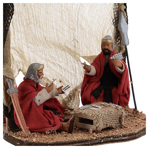 Soldiers playing cards figurines Neapolitan nativity 10 cm 2