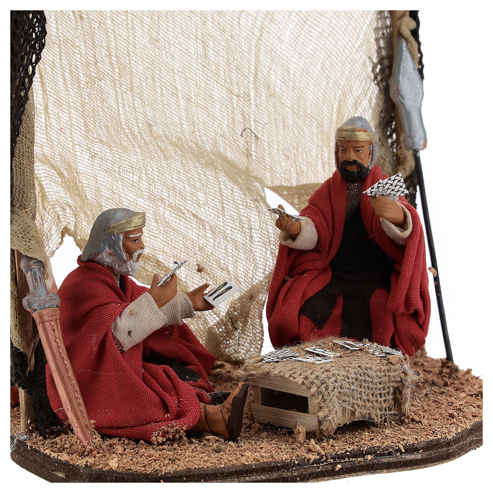 Soldiers playing cards Neapolitan nativity 10 cm 4