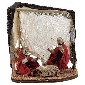 Soldiers playing cards Neapolitan nativity 10 cm s1