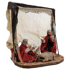 Soldiers playing cards Neapolitan nativity 10 cm s5