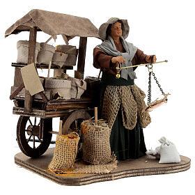 Animated plant seed seller woman 14 cm Neapolitan nativity s4