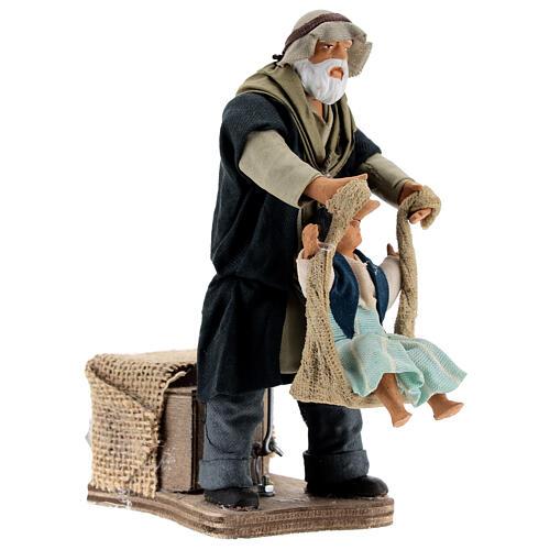 Movimiento hombre que juega con niña Nápoles 14 cm 3