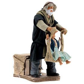 Mouvement homme qui joue avec petite fille Naples 14 cm s3