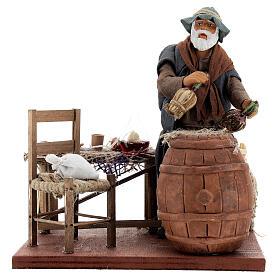 Drunk in tavern Neapolitan nativity scene movement 14 cm s5