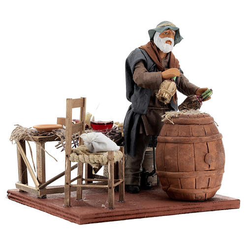 Drunk in a tavern animated Neapolitan nativity 14 cm 7