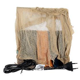 Vendedor de tecidos movimento presépio napolitano com figuras altura média 14 cm s4