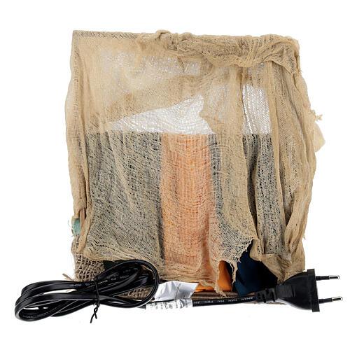 Vendedor de tecidos movimento presépio napolitano com figuras altura média 14 cm 4