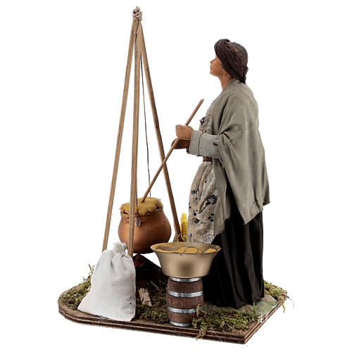 Polenta seller figurine 24 cm Neapolitan nativity 6