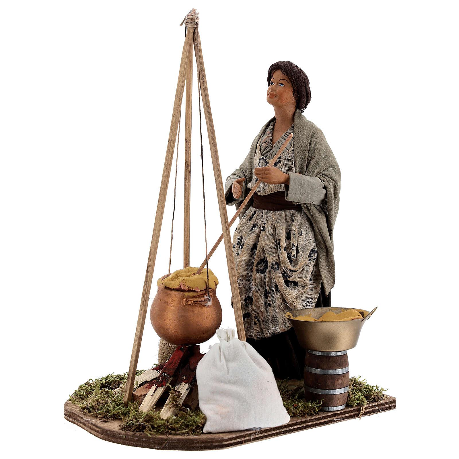 Vendeuse de polenta crèche napolitaine 24 cm 4