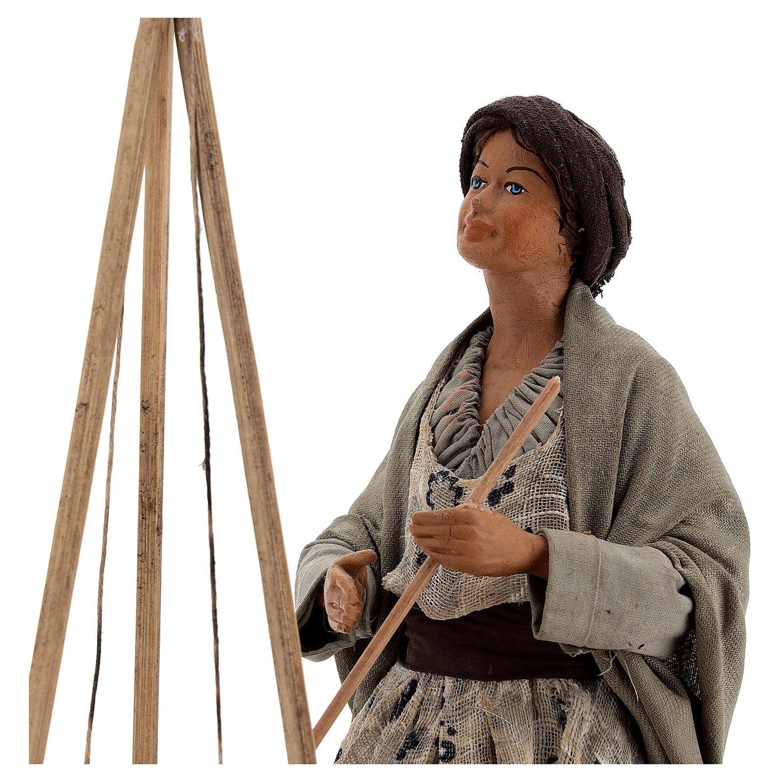 Polenta seller statue 24 cm Neapolitan nativity 4