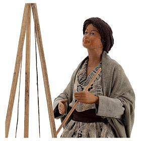 Polenta seller statue 24 cm Neapolitan nativity s2