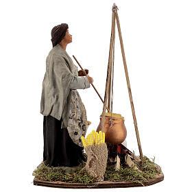 Polenta seller statue 24 cm Neapolitan nativity s5