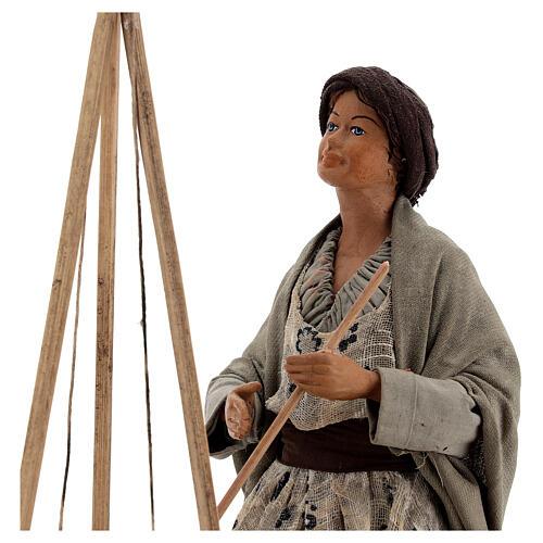 Polenta seller statue 24 cm Neapolitan nativity 2