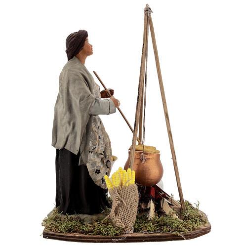 Polenta seller statue 24 cm Neapolitan nativity 5