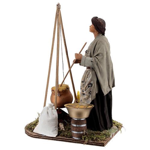 Polenta seller statue 24 cm Neapolitan nativity 6