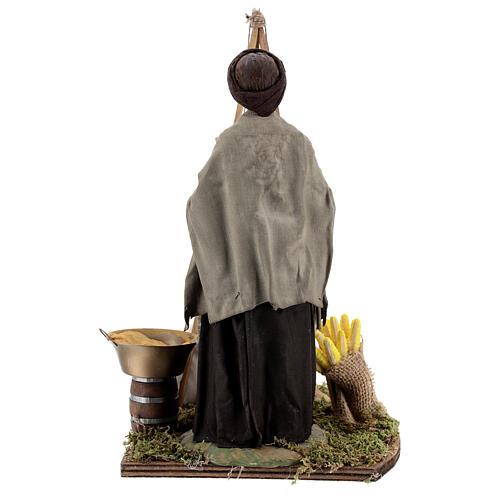 Polenta seller statue 24 cm Neapolitan nativity 7