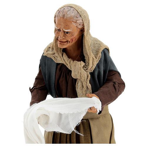 Women wringing out cloths figurines 30 cm Napolitan Nativity 2