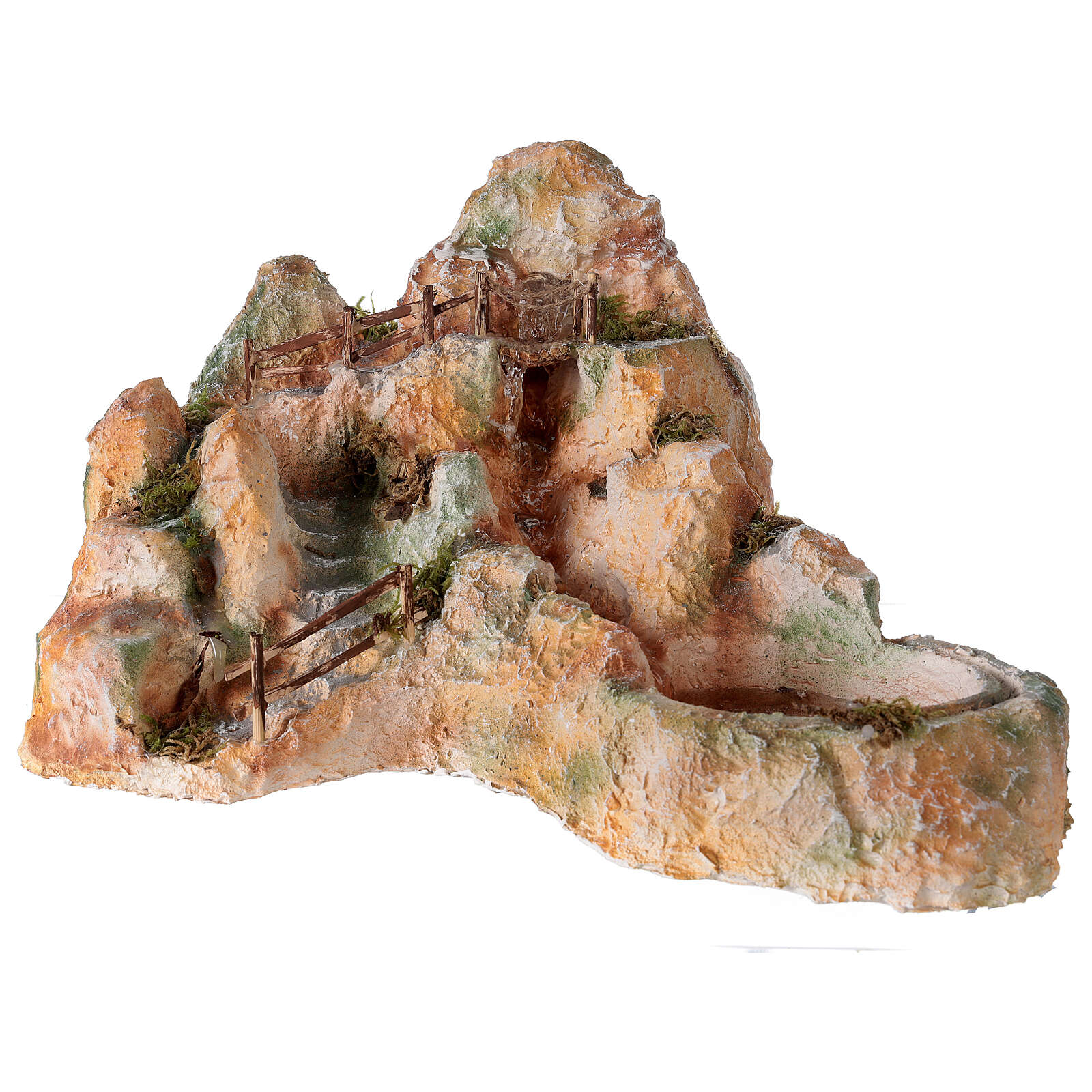 Cascata resina stile arabo 20x40x30 cm presepe napoletano 6-8 cm 4