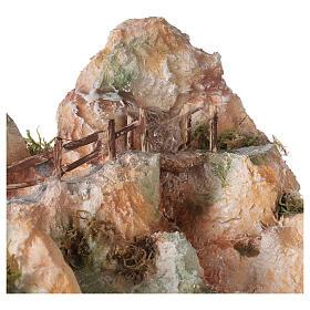 Cascata resina stile arabo 20x40x30 cm presepe napoletano 6-8 cm s2