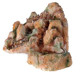 Cascata resina stile arabo 20x40x30 cm presepe napoletano 6-8 cm s3