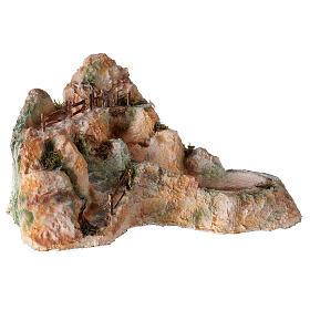 Cascata resina stile arabo 20x40x30 cm presepe napoletano 6-8 cm s4
