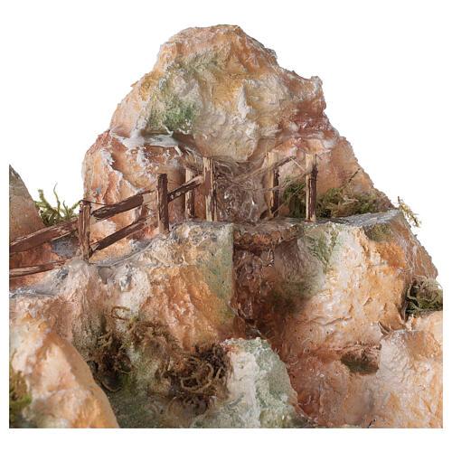 Cascata resina stile arabo 20x40x30 cm presepe napoletano 6-8 cm 2