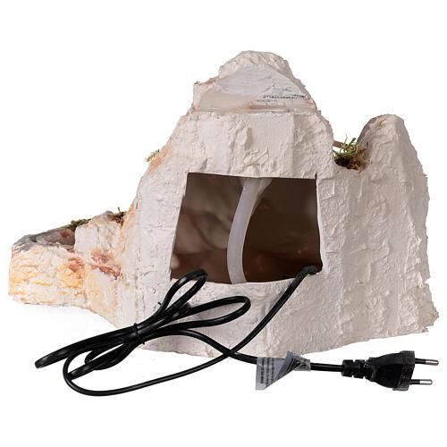 Cascata resina stile arabo 20x40x30 cm presepe napoletano 6-8 cm 5