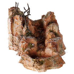 Ruisseau résine style arabe 15x25x30 cm crèche napolitaine 6-8 cm s1