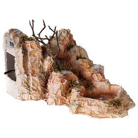 Ruisseau résine style arabe 15x25x30 cm crèche napolitaine 6-8 cm s4