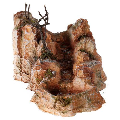 Ruisseau résine style arabe 15x25x30 cm crèche napolitaine 6-8 cm 1