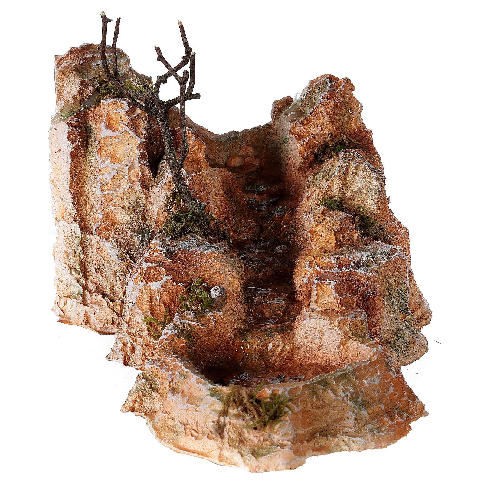 Ruscello resina stile arabo 15x25x30 cm presepe napoletano 6-8 cm 4