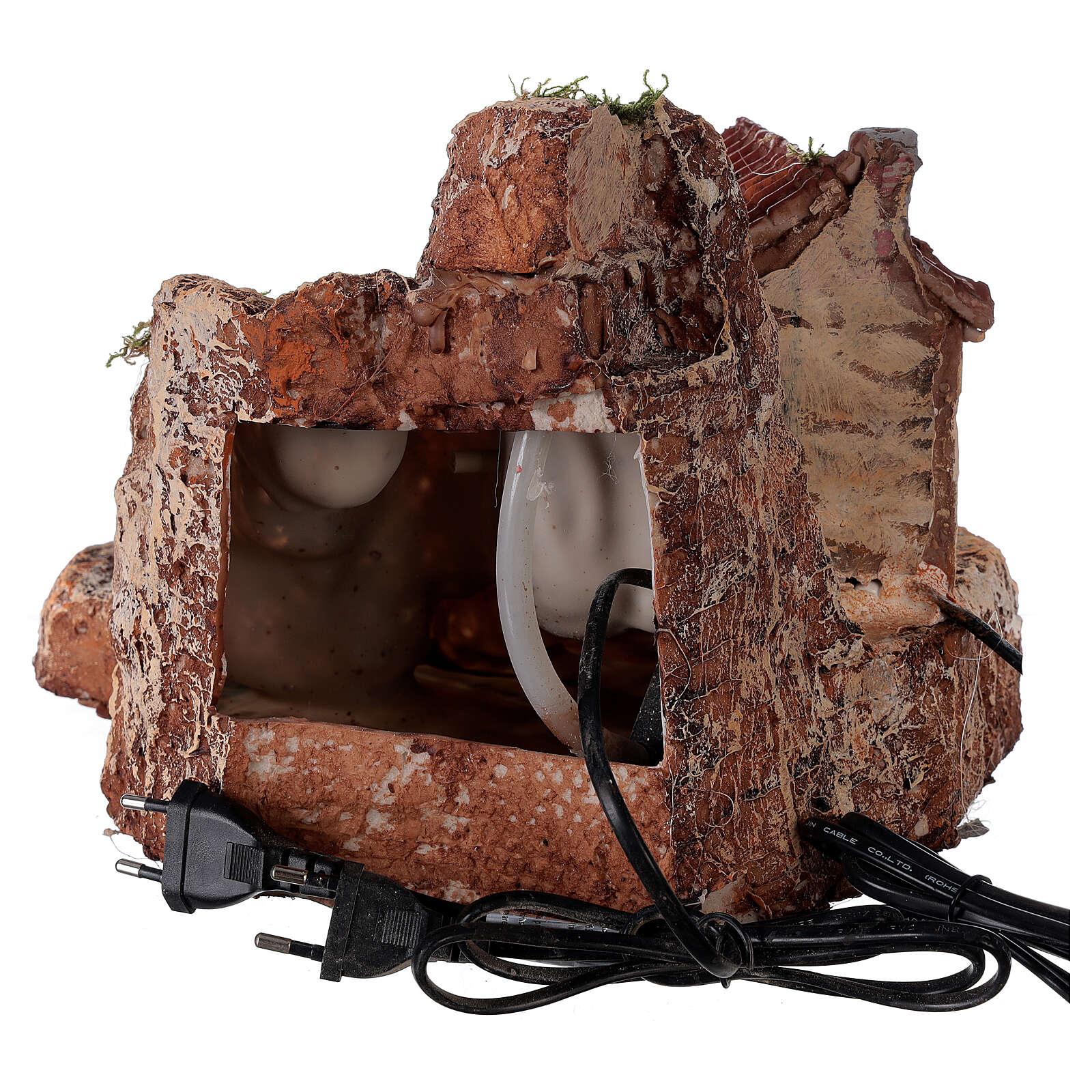 House watermill resin 20x30x30 cm Neapolitan nativity 6-8 cm 4