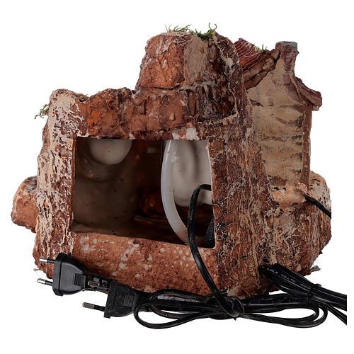 House watermill resin 20x30x30 cm Neapolitan nativity 6-8 cm 5