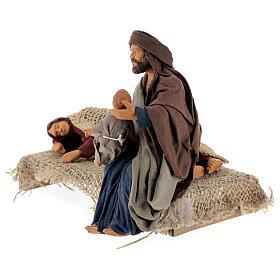 Natività con Madonna che riposa presepe napoletano 15 cm s3
