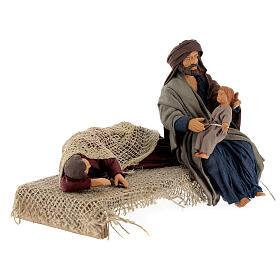 Natività con Madonna che riposa presepe napoletano 15 cm s4