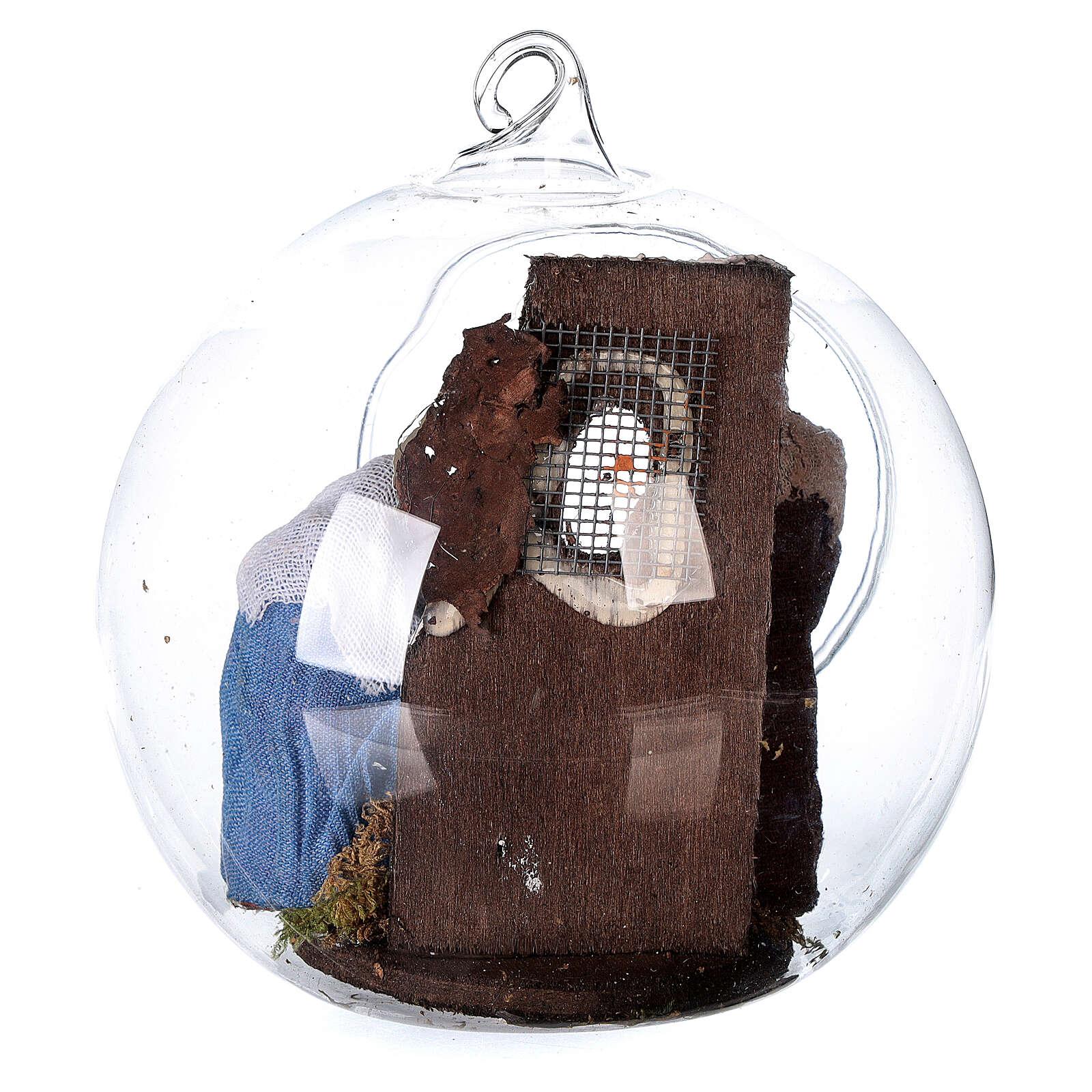 Natività palla vetro presepe napoletano 7 cm 4