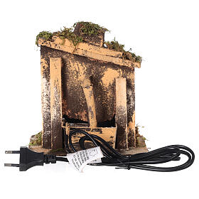 Cork fountain for Neapolitan Nativity scene with pump 10-12 cm s4