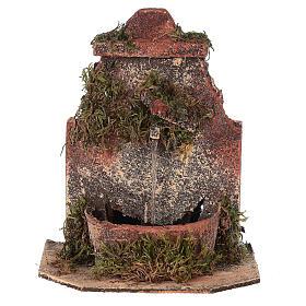 Cork fountain for Neapolitan Nativity scene with pump 10-12 cm s1