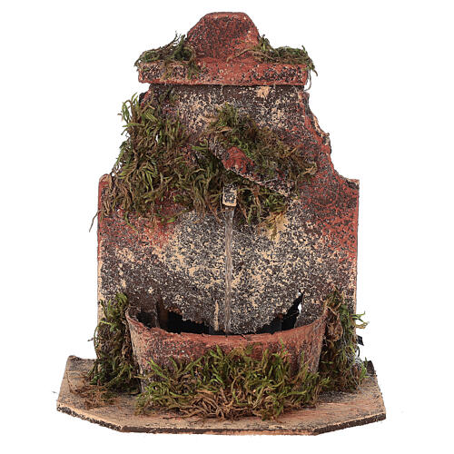 Cork fountain for Neapolitan Nativity scene with pump 10-12 cm 1