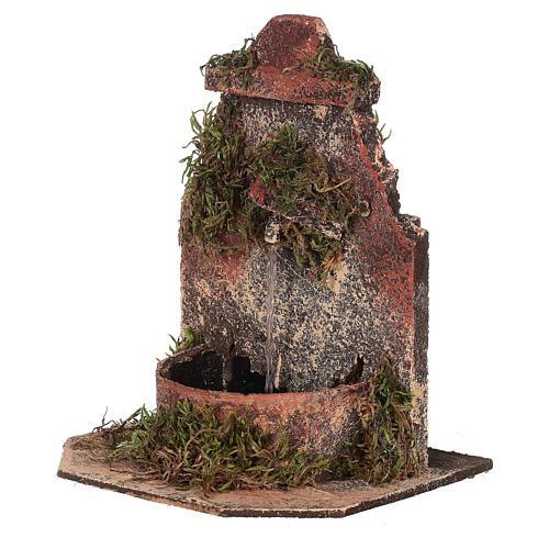 Cork fountain for Neapolitan Nativity scene with pump 10-12 cm 2