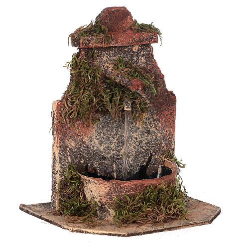 Cork fountain for Neapolitan Nativity scene with pump 10-12 cm 3