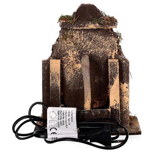 Cork fountain for Neapolitan Nativity scene with pump 10-12 cm 4
