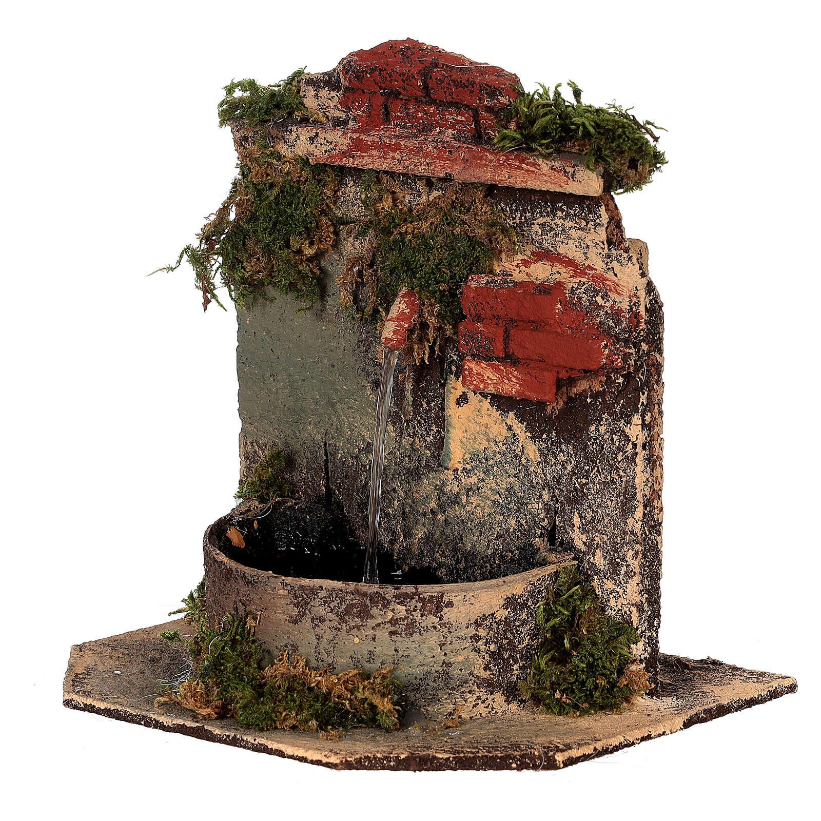 Brunnen aus Kork mit Pumpe Neapolitanische Krippe, 10-12 cm 4