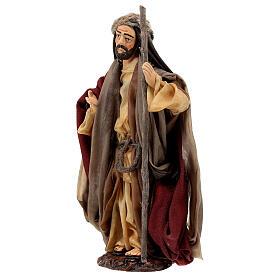 Statua San Giuseppe in terracotta 15 cm presepe napoletano