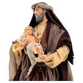 Statua San Giuseppe bambino Gesù 18 cm presepe napoletano