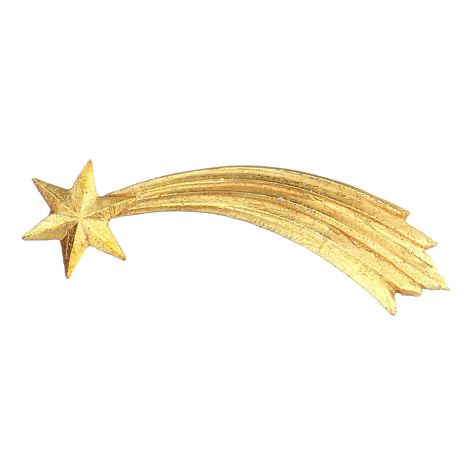 Estrella cometa para belén Original Pastor madera pintada en Val Gardena 10 cm de altura media 4