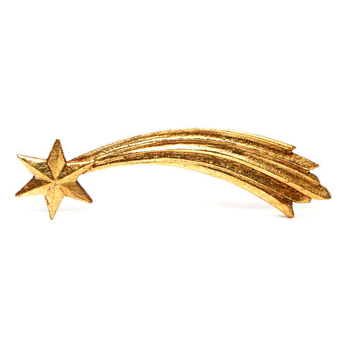 Estrella cometa para belén Original Pastor madera pintada en Val Gardena 10 cm de altura media 1