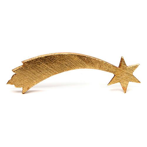 Estrella cometa para belén Original Pastor madera pintada en Val Gardena 10 cm de altura media 2