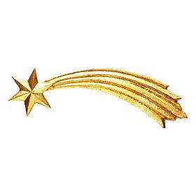 Comète pour crèche Original Berger Val Gardena bois peint de 12 cm s1