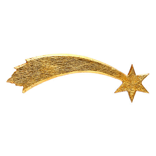 Stella cometa per presepe Original Pastore legno dipinto in Val Gardena 12 cm 2